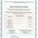 Приложение к свидетельству государственной аккредитации